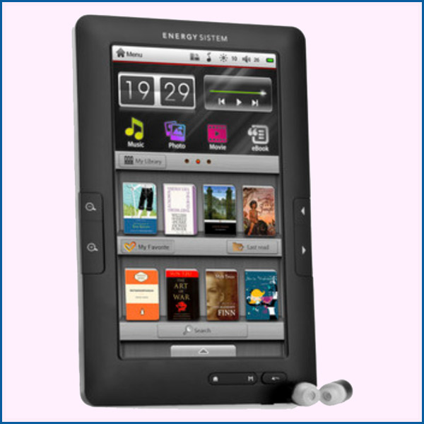 Energy� Color eReader C7+ Touch Titanium Black