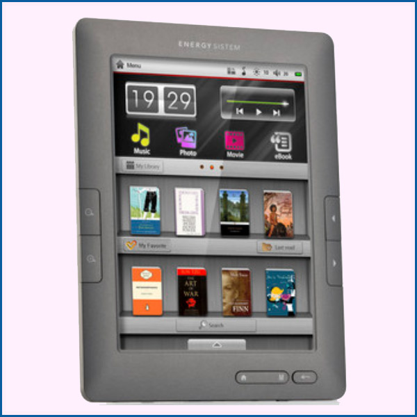 Energy� Color eReader C8+ Touch Titanium Grey