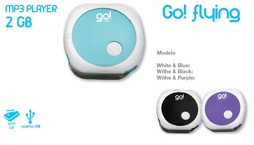 MP3 Go Flying 2G - Various Colous