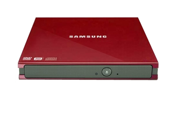 Samsung SE-S084C red slim external DVD rewriter
